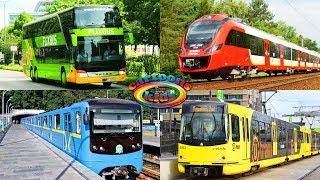 Развивающее видео про городской транспорт для детей. Изучаем поезда и железнодорожный транспорт