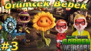 Örümcek Bebek ve Meraklı Plants vs Zombies Garden Warfare Oynuyor Çocuklar için Videolar