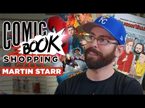 SpiderMan: Homecoming & Silicon Valley's Martin Starr Goes Comic Book Shopping with Collider