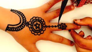 Gambar Henna Simple Yang Mudah Ditiru