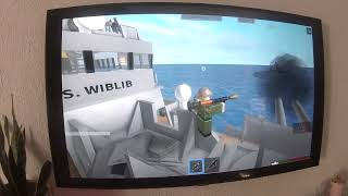 Cool Blue playing Roblox Sinking Ship