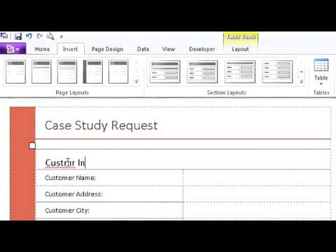 MS tutorial Microsoft Office InfoPath 2010 - YouTube