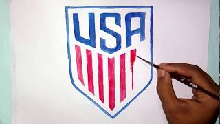 How to draw the new US soccer logo