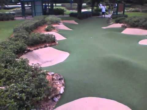 Fantasia Gardens Mini Golf At Walt Disney Wolrd 13th Hole Youtube