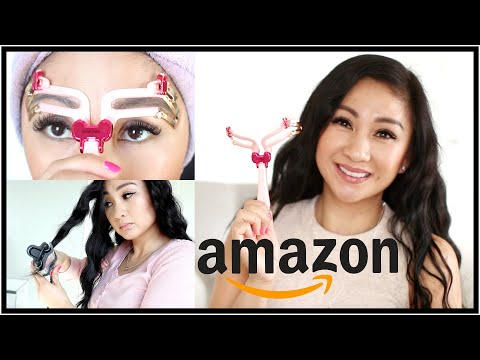 TESTING AMAZON BEAUTY GADGETS, MAKEUP + PRODUCTS!