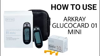 how to use arkray glucocard 01 mini