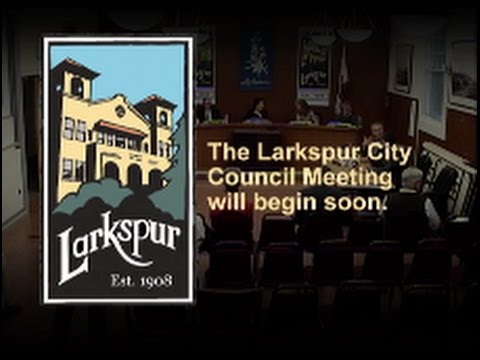 Larkspur City Council October 19, 2016