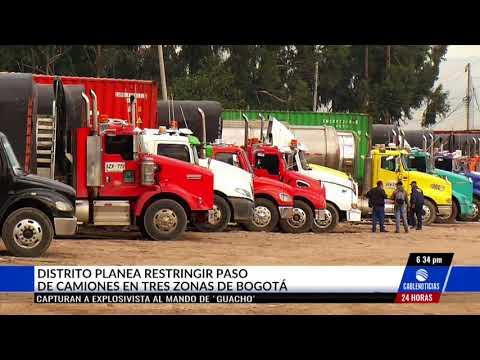 Distrito planea restringir paso de camiones en tres zonas de Bogotá