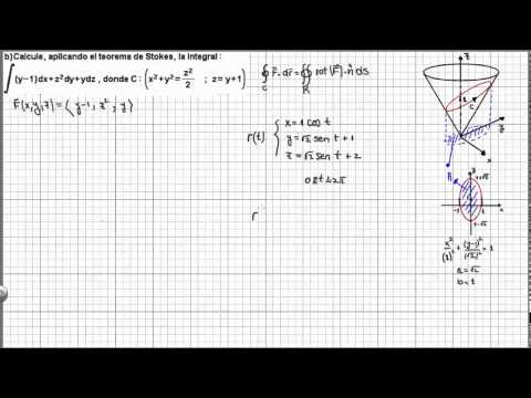 Teorema de Stokes. Ejemplo 1