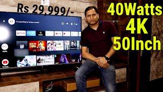 VU Cinema 50inch 4K LED TV With 40Watts Soundbar Built-In