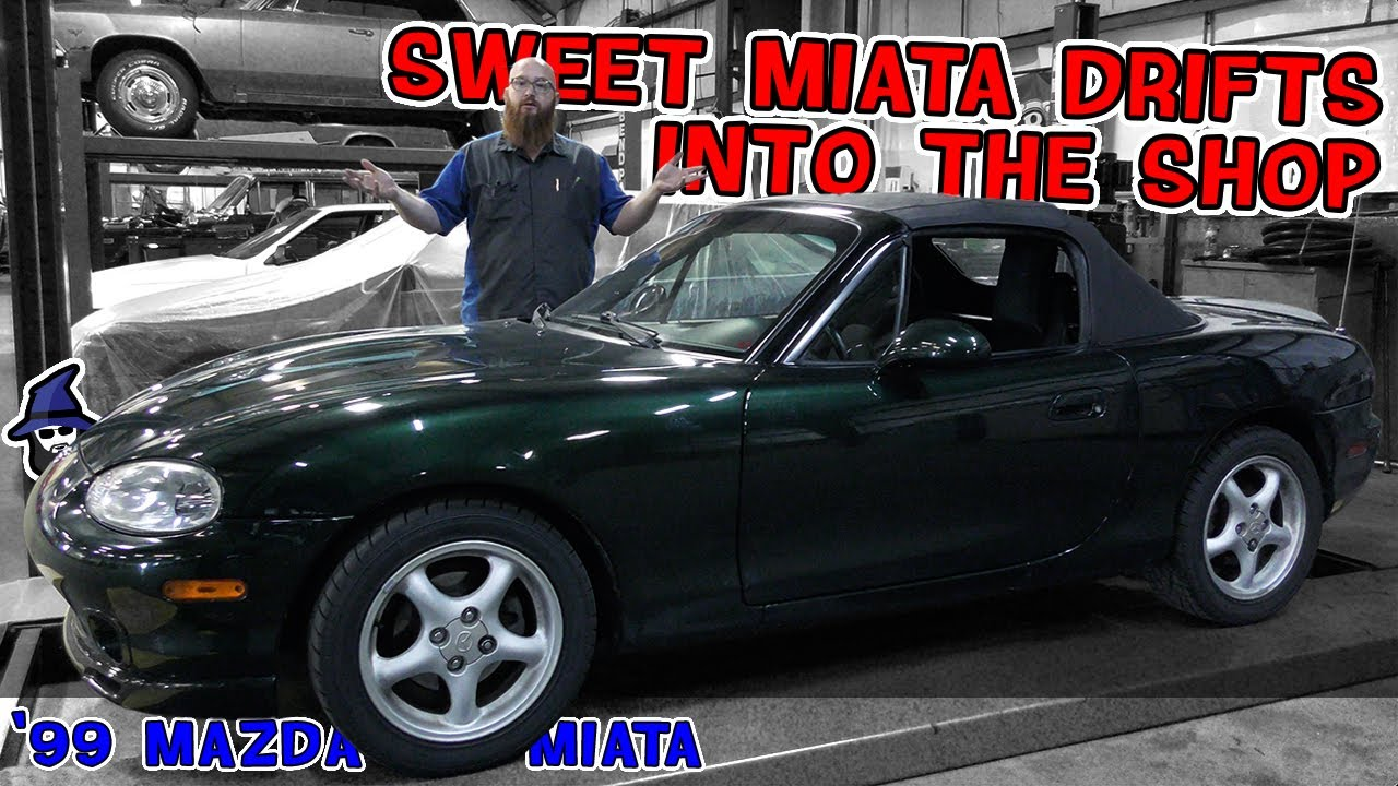 Finally the CAR WIZARD gets a Miata in his shop. Check out this minty '99 Mazda Miata!