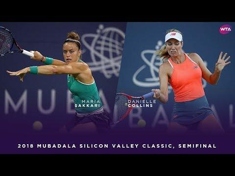 Maria Sakkari vs. Danielle Collins | 2018 Mubadala Silicon Valley Classic Semifinal