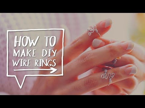 DIY WIRE RINGS   How to Make a DIY Upper-Finger Wire Heart Ring Tutorial ✨ Alejandra's Styles