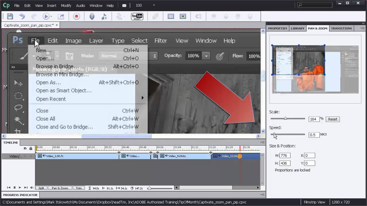 Adobe Captivate Tutorial - Pan, Zoom, Picture-in-Picture - Captivate  Training in Los Angeles