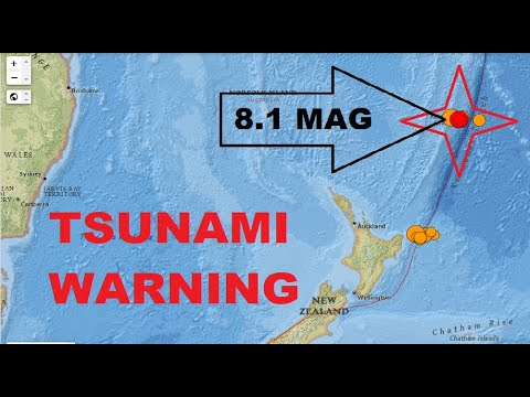Huge 8.1 Mag Earthquake - Kermadec Islands, New Zealand Triggers Tsunami Warnings Across The Pacific