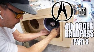 Acura subwoofer box final assembly! - Acura stereo system #15