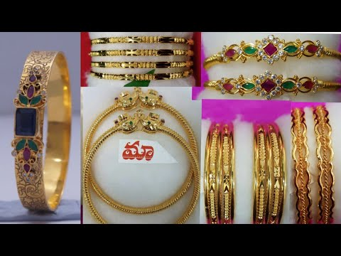 Daily wear light weight gold bangles collection with adress||4grams copper based bangles collection