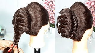 New Bun Hairstyle Using Donut || hairstyles for girls || party hairstyle || easy hairstyles