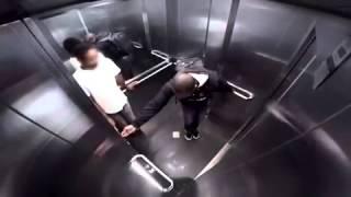 palhaada no elevador