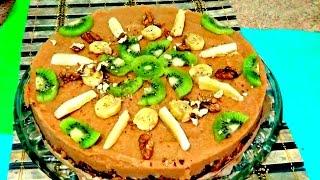 Быстрый яблочный пирог без выпечки самый простой рецепт