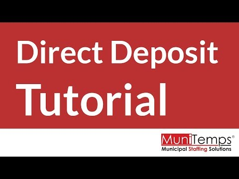 TUTORIAL - How To Fill Out A Direct Deposit ACH Form