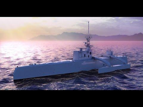 DARPA Sea Hunter unmanned Submarine Hunter Drone ACTUV starts Sea Trials