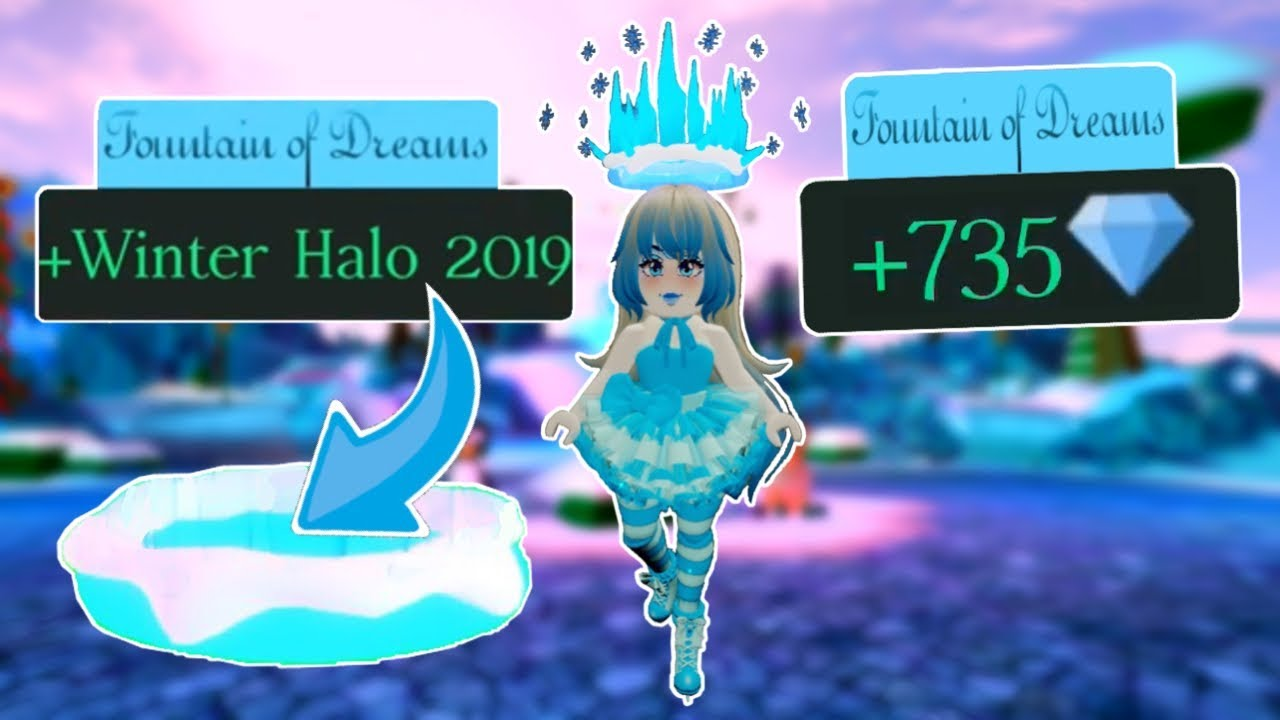 Glitch To Get The Halo Roblox Royal High How To Always Win The Winter Halo Or Diamonds From The Fountain Royale High Investigation Youtube