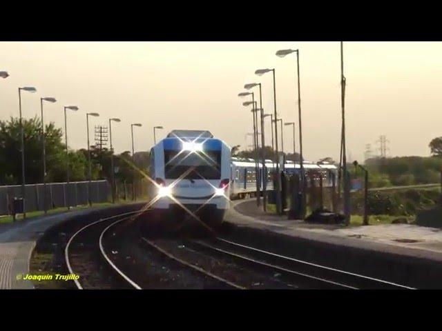 Formación: CNR CM 1010 + 1009 TA pasando por la estación: Ing. Castello