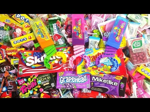 Grab Kidsmania Lollipops & A lot of Candy New Skittles Learn Colors with Candies