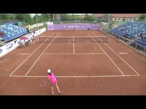 Finala Campionatul national  de tenis 12 ani fete Moglan Alexandra Vs  Iordache Alexandra