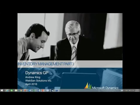 Inventory Management in Microsoft Dynamics GP - Part 1