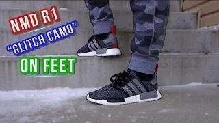 """Adidas NMD R1 """"Glitch Camo"""" On Feet"""