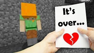 REALISTIC MINECRAFT - ALEX GETS A DIVORCE!💔