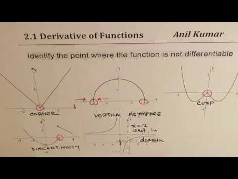 Differentiability Concepts and Derivatives with First Principle