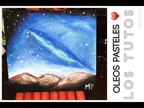 COMO DIBUJAR CON OLEO PASTEL - how to draw with pastels oil