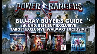 SABAN'S POWER RANGERS - BLURAY UNBOXING (4K, BEST BUY, WALMART, TARGET) - BLURAY BUYERS GUIDE