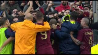 Il gol di Strootman - Lazio - Roma - 0-2 - Giornata 15 - Serie A TIM 2016/17