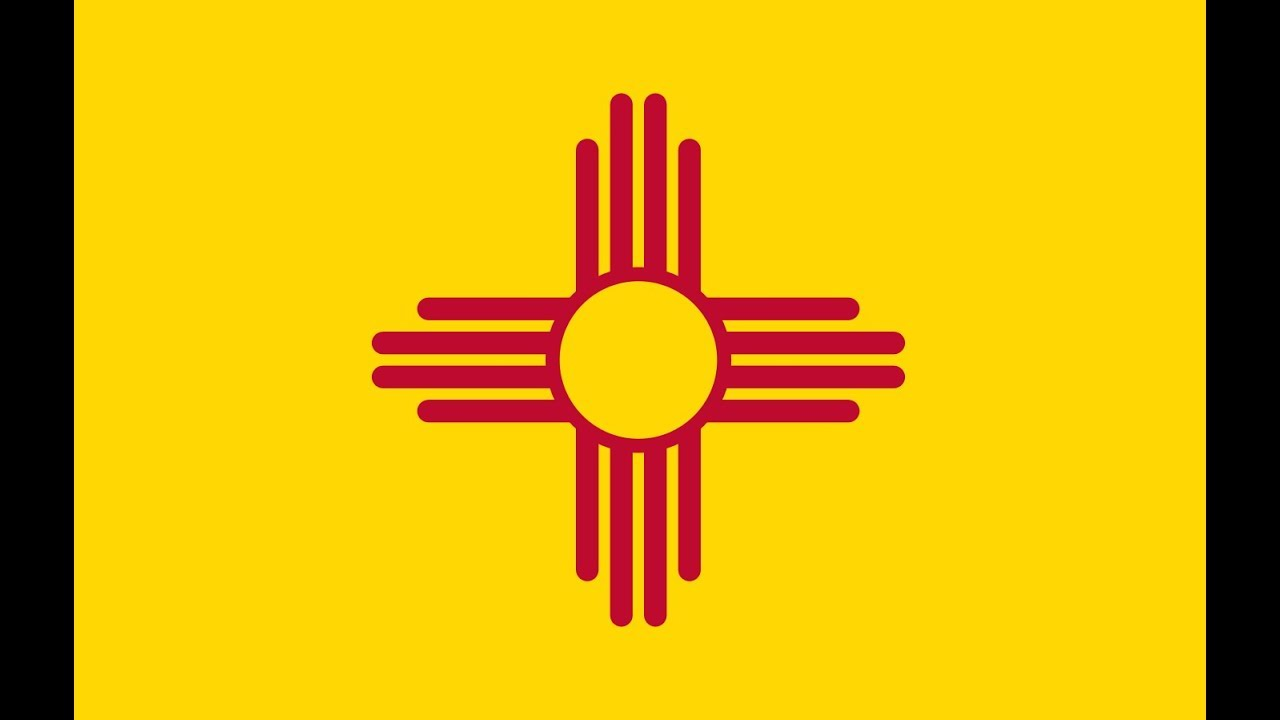The Daughters of the American Revolution pushed New Mexico to design a contemporary and unique flag in 1920 A contest to design the new state flag was won by Harry Mera of Santa Fe New MexicoMera was an archaeologist who was familiar with the Zia Sun symbol found at Zia Pueblo on a 19thcentury pot The symbol has sacred meaning to the ZiaFour is a sacred number which symbolizes the Circle