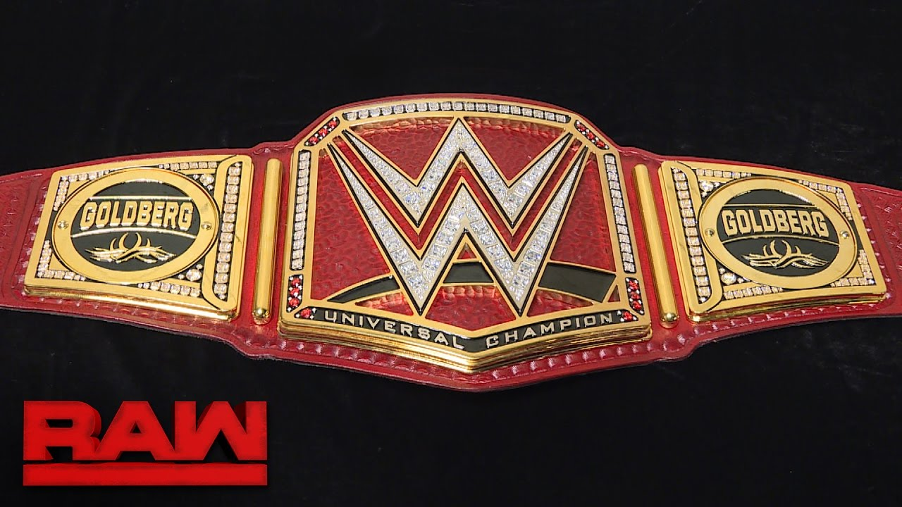 Goldberg S New Universal Championship Gets Custom Plates