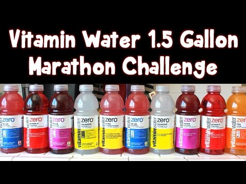 Marathon Challenge: 1.5 Gallons of Vitamin Water (200 ounces) | FreakEating vs the World 129