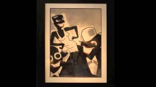 Paul Colin - Original Watercolor of Josephine Baker & Musicians