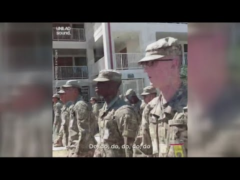 Chuck and Kelly - Drill Sergeant Leads Marches to Baby Shark