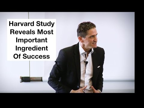 Harvard Study Reveals Most Important Ingredient of Success