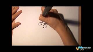 Como desenhar uma flor com letras