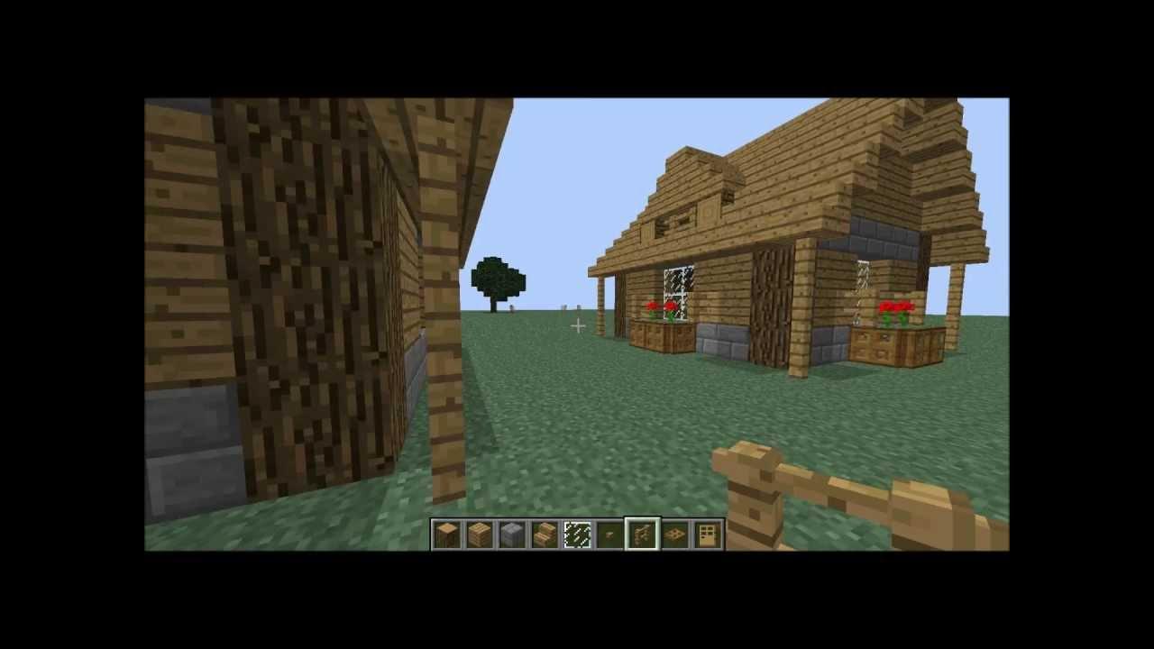 Tuto comment faire une belle petite maison sur minecraft partie 1