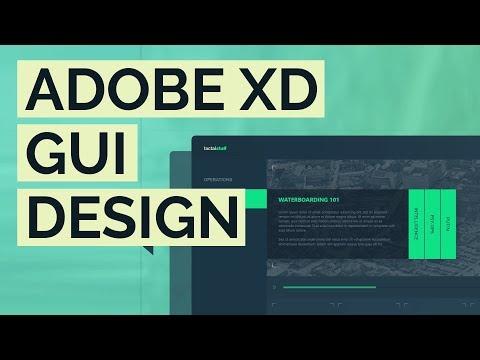 Adobe XD CC -  CUSTOM UI Design Tutorial