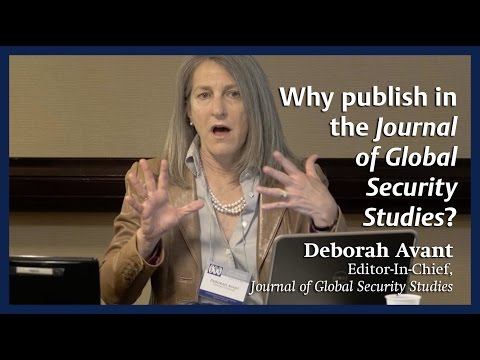 Why publish in the Journal of Global Security Studies?