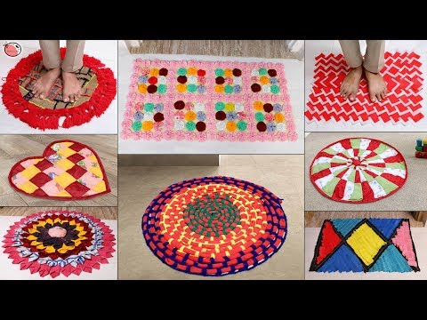 9 Old Clothes Beautiful Doormat Ideas !!! DIY Handmade Things