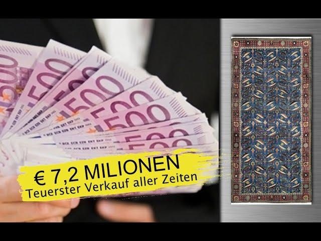 Der teuerste Teppich der Welt  Perser Teppich  |Orientteppich Kerman € 7,2 Millionen VERKAUFT!!!