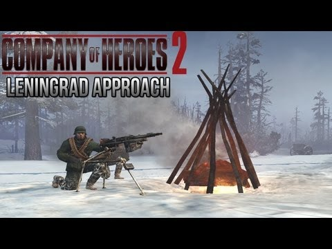 Company of Heroes 2 - Leningrad Approach AI Battle on General - Theater of War Gameplay